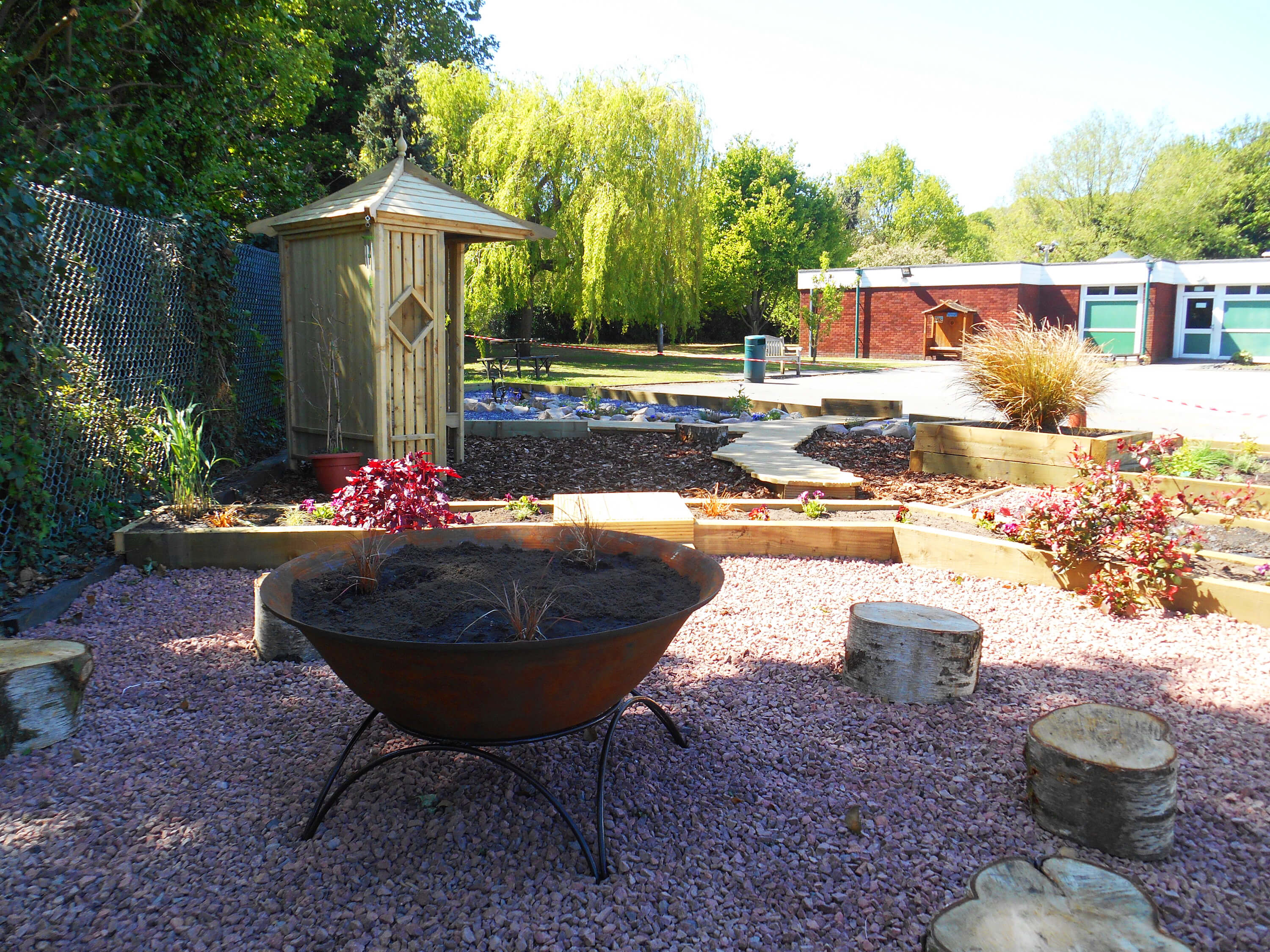 fire pit garden Edit Photoshop